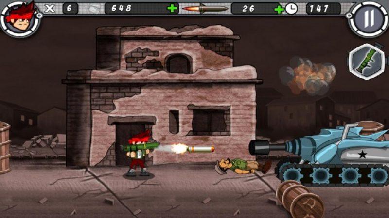 Test d'Alpha Guns sur Freebox mini 4K : un jeu gratuit inspiré de Metal Slug