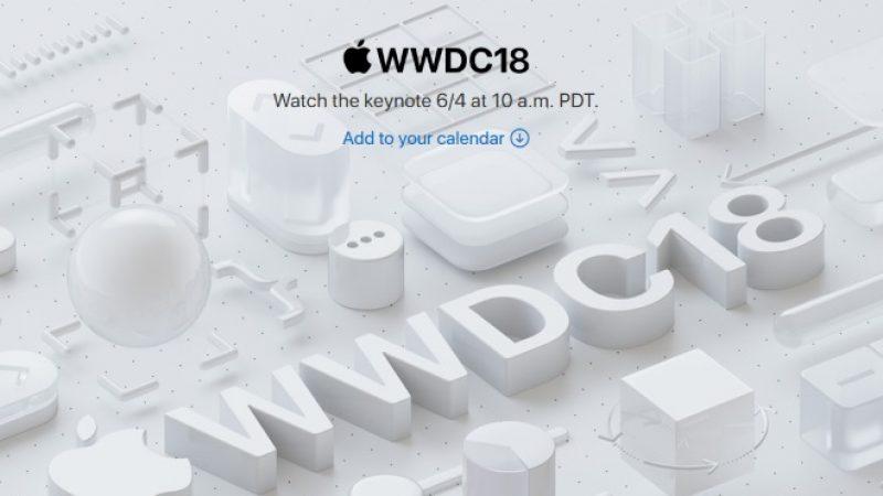 WWDC 2018 : Apple dévoile la date de sa prochaine keynote