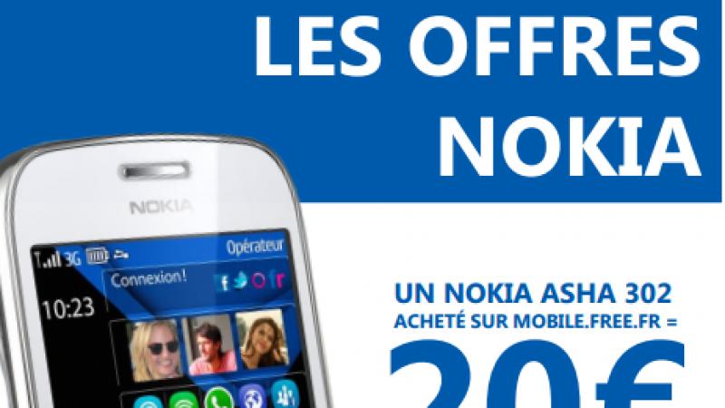 Free Mobile : 20 € remboursés pour le Nokia Asha 302