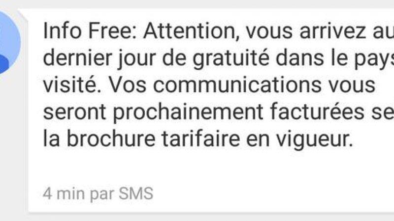 Roaming Free Mobile : Un SMS bien pratique pour éviter toute mauvaise surprise