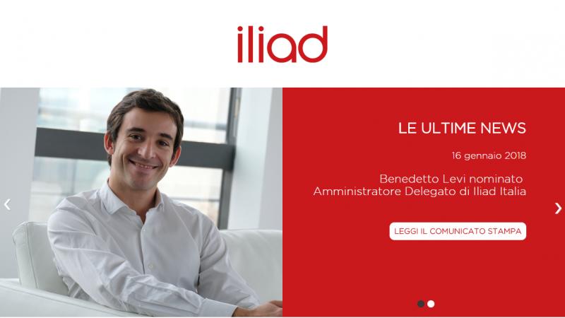 Lancement du site web d'Iliad en Italie
