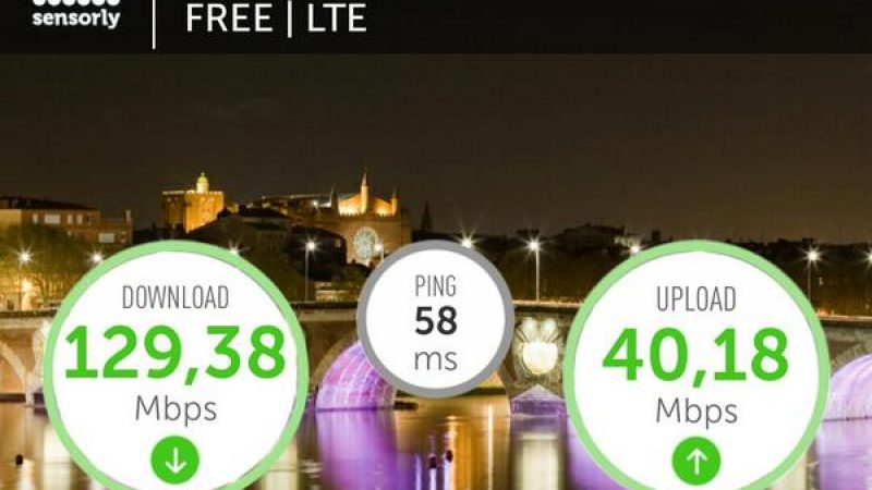 Toulouse: Record 4G Free Mobile battu !