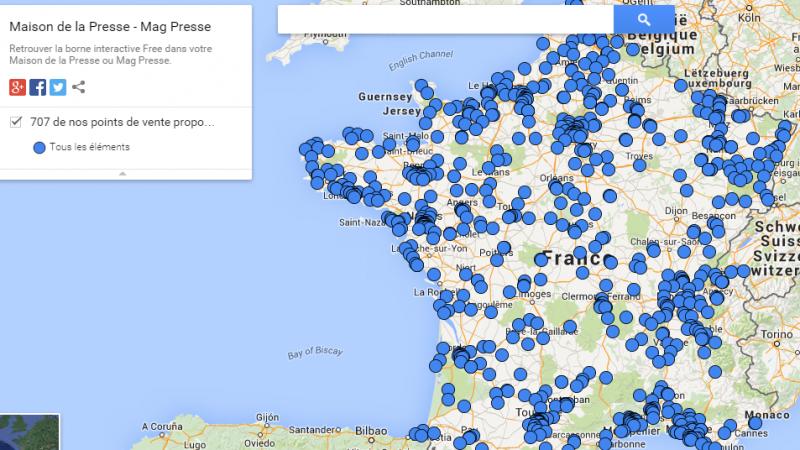 Bornes automatiques Free Mobile : le cap des 700 dépassé dans les Maisons de la Presse