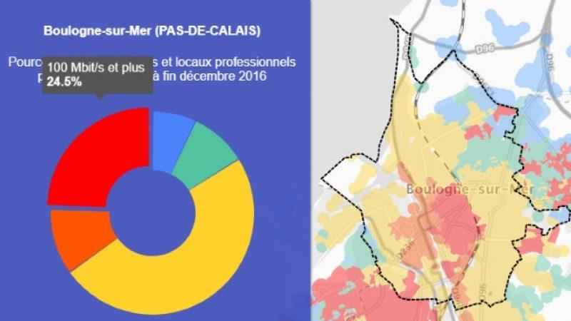 Découvrez les cartes du déploiement très haut débit de Boulogne-sur-Mer