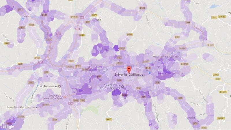 Couverture et débit 4G Free Mobile : Focus sur Brive-la-Gaillarde