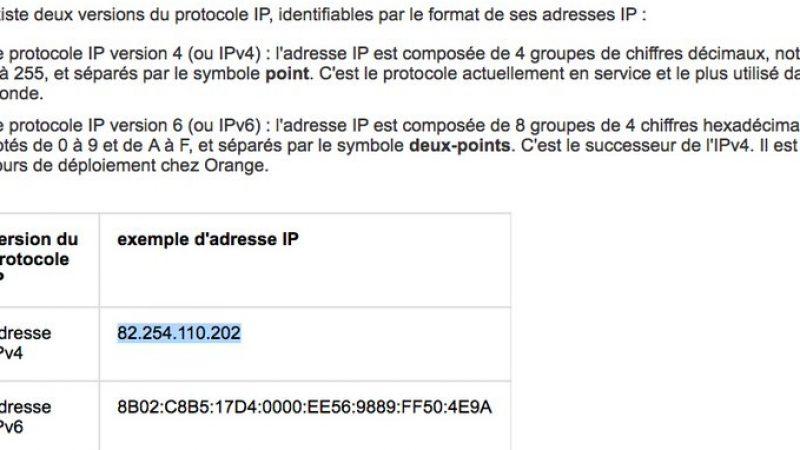 Clin d'oeil : Quand Orange utilise une adresse IP Free