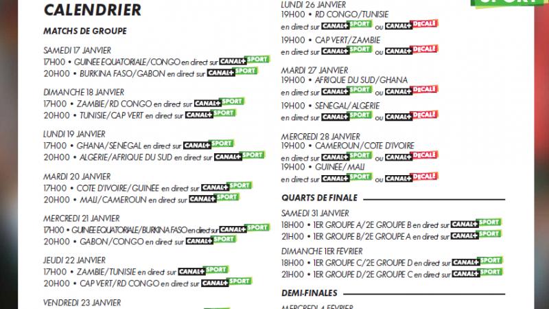 Canal+ : diffusion de la CAN 2015, et lancement d'un concours de pronostics