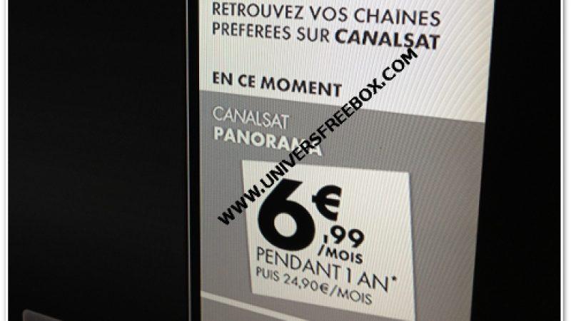 [MàJ] CanalSat via Free : Promotion exceptionnelle du pack Panorama à 6,99€/mois