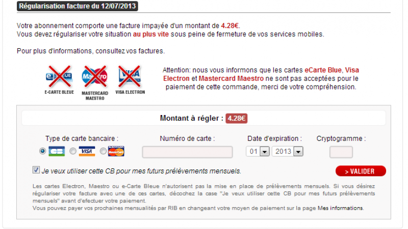 Free Mobile Le Changement De Mode De Prelevement Possible