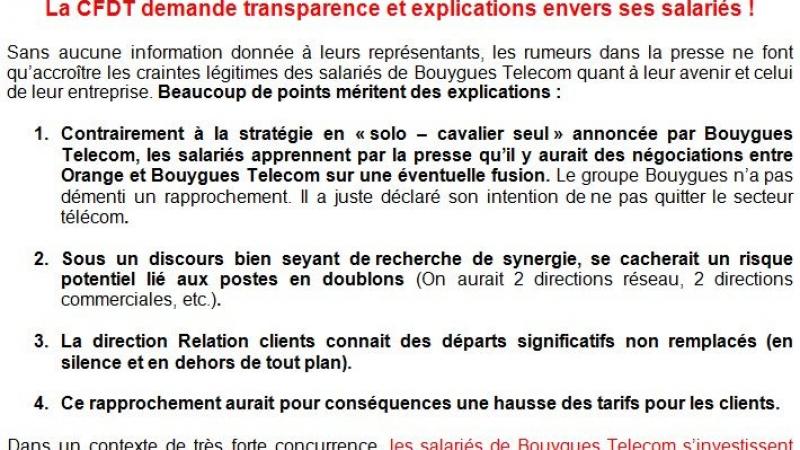 Négociations entre Orange et Bouygues : des salariés inquiets et des hausses de tarifs pour les clients