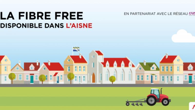 Free annonce le lancement de ses offres fibre sur un RIP