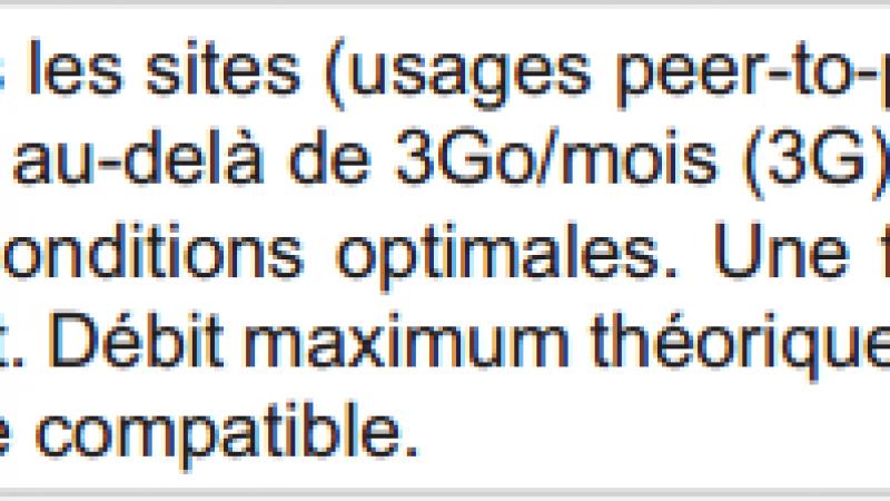 Free Mobile : le débit maximum théorique en 3G passe de 14 Mbits à 21 Mbits