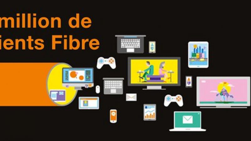 Orange vient de dépasser le cap du million de clients Fibre en France