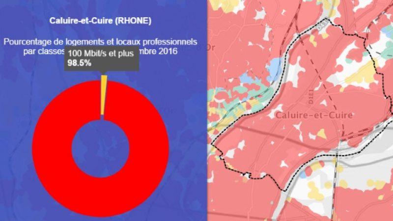 Découvrez les cartes du déploiement très haut débit de Caluire-et-Cuire