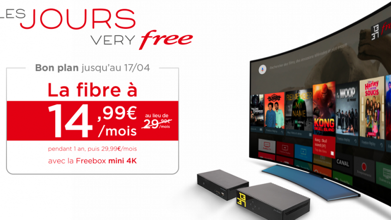 Free prolonge « les jours very Free » avec la Freebox Mini 4K à petit prix