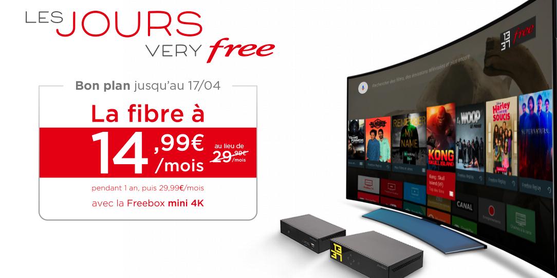 forfait freebox mini 4k jours very free