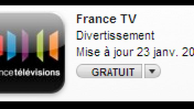 Catch-up TV : FranceTélévisions s'invite sur iPhone
