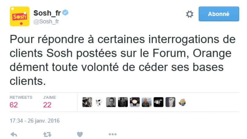 Rachat de Bouygues Télécom : Orange « dément toute volonté de céder ses bases clients » Sosh à Numéricable-SFR