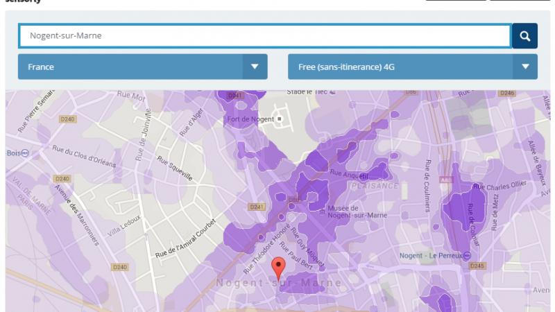 Couverture et débit 4G du réseau mobile de Free : Focus sur Nogent-sur-Marne