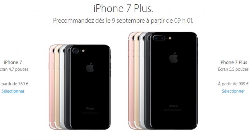 Comparaison des prix pour l'iPhone 7 et 7 Plus chez Orange, SFR, Free et Bouygues Télécom