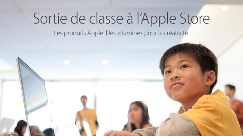 Sorties scolaires à l'Apple Store !