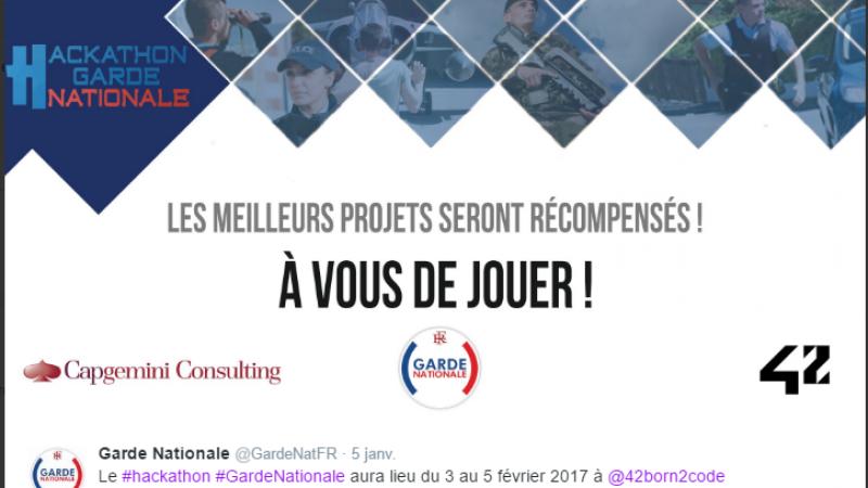 """Un Hackathon """"Garde nationale"""" début février dans les locaux de l'École 42 de Xavier Niel"""