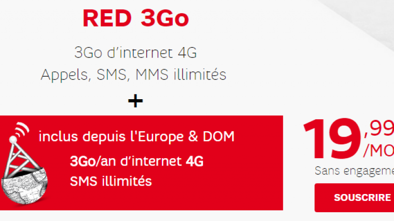 RED by SFR propose l'option RED Deal Europe