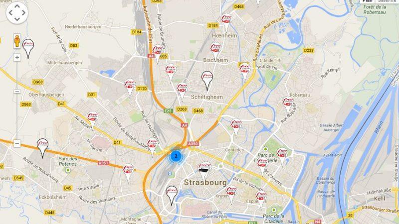 Free: Trois nouvelles antennes en Alsace