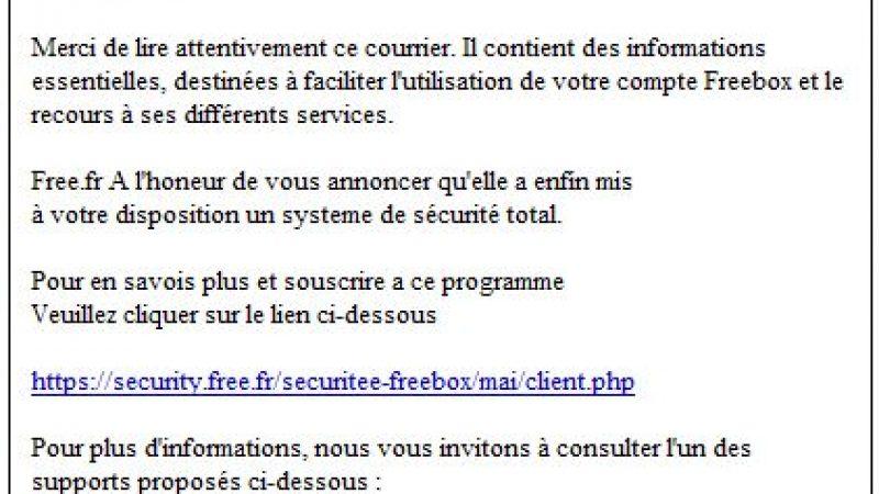 Nouvelle attaque phishing contre les Freenautes