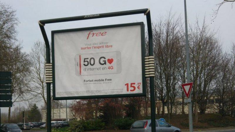 Découvrez une nouvelle pub de Free Mobile mettant en avant les 50Go en 4G