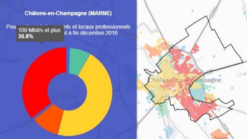 Découvrez les cartes du déploiement très haut débit de Châlons-en-Champagne