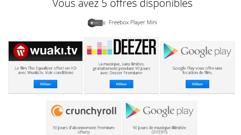 De la musique ou un film récent offerts à tous les possesseurs de la Freebox Mini 4K