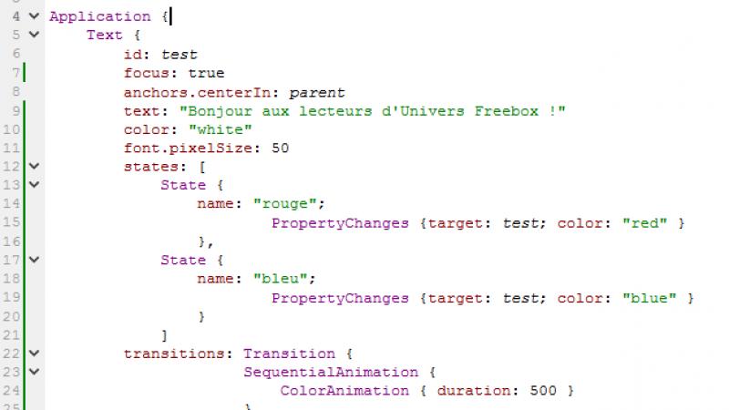 Je crée mon appli Freebox Révolution : une première application colorée