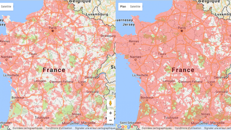 Free Mobile : la couverture en itinérance Orange désormais visible sur la carte officielle
