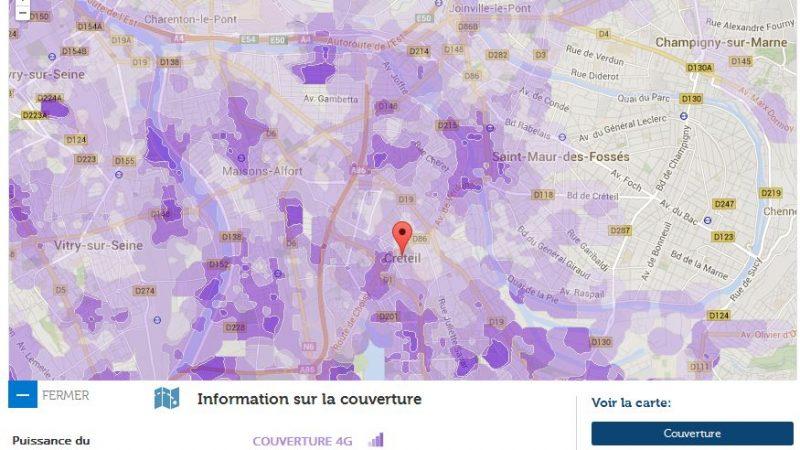 Couverture et débit 4G Free Mobile : Focus sur Créteil