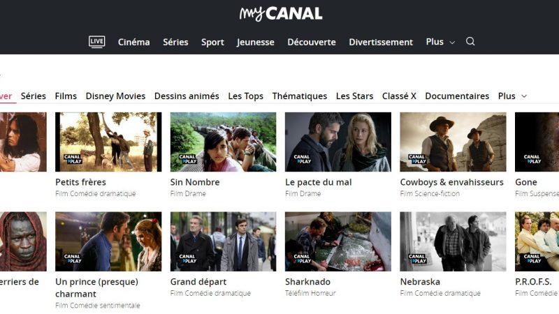 Les contenus de Canalplay sont désormais intégrés à myCanal