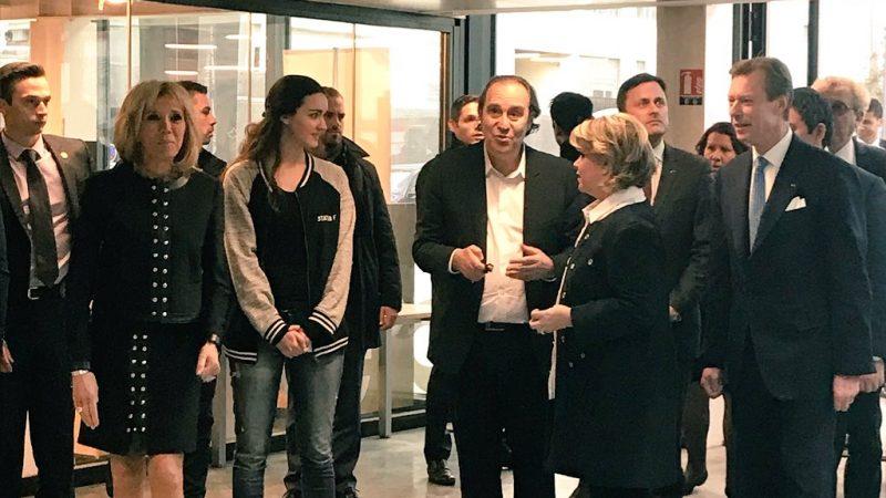 Clin d'oeil : Brigitte Macron et le Grand Duc du Luxembourg en visite de courtoisie à Station F