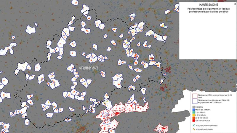 Découvrez la carte des déploiements très haut débit lancés en Haute Saône