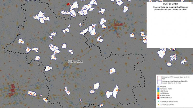 Découvrez la carte des déploiements très haut débit lancés dans le Loir et Cher