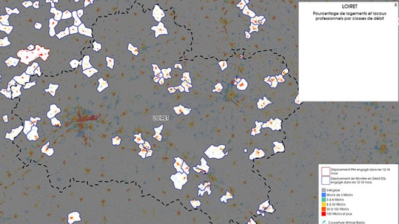 Découvrez la carte des déploiements très haut débit lancés dans le Loiret