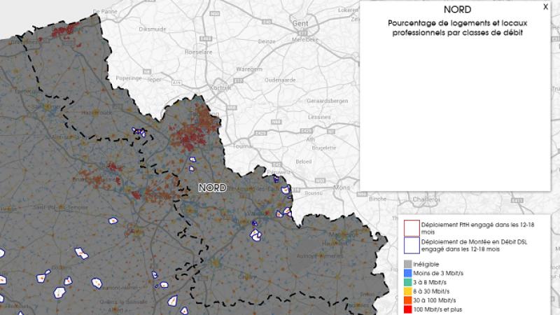 Découvrez la carte des déploiements très haut débit lancés dans le Nord