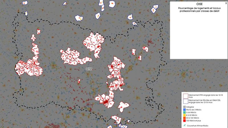 Découvrez la carte des déploiements très haut débit lancés dans l'Oise