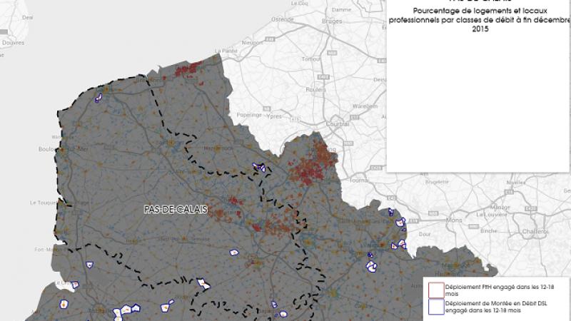 Découvrez la carte des déploiements Très Haut Débit engagés dans le Pas de Calais