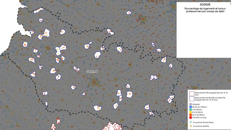 Découvrez la carte des déploiements très haut débit lancés dans la Somme