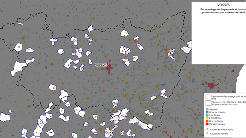 Découvrez la carte des déploiements très haut débit lancés dans les Vosges