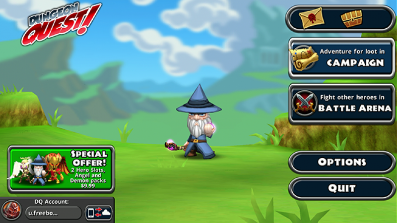 Test appli Freebox Mini 4K : Dungeon Quest, un bon jeu d'aventure