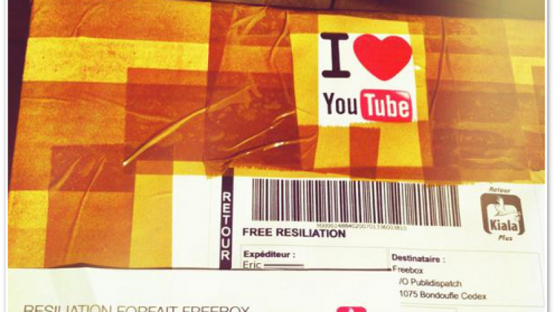 Clin d'oeil : Free, I love Youtube !