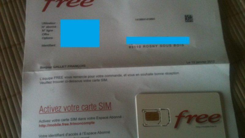 Les premiers abonnés ont reçu leur carte SIM Free Mobile