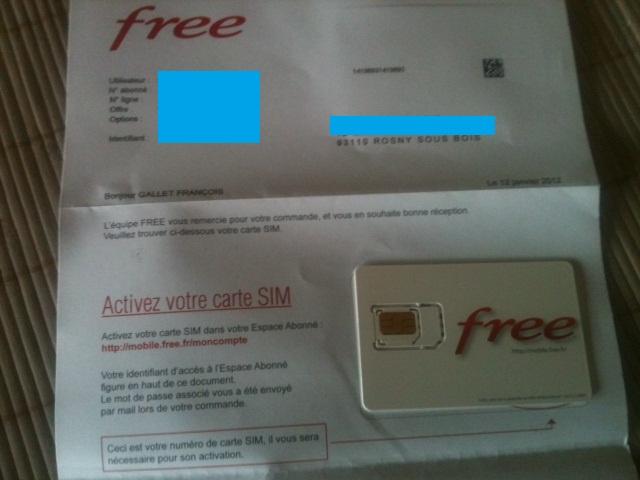 mobile free mon compte activer carte sim Les premiers abonnés ont reçu leur carte SIM Free Mobile