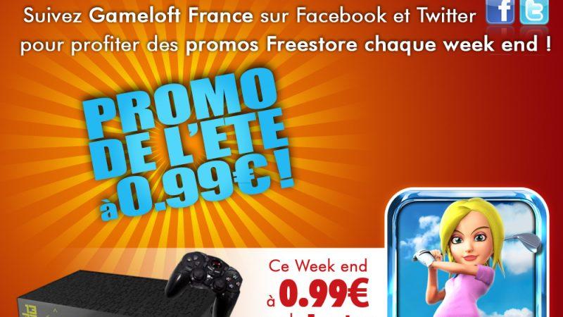 Promo d'été Gameloft : Let's Golf 2 à 0,99€ ce week end sur la Freebox Révolution